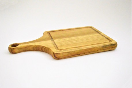 Oak cutting board with handle 20x35 cm