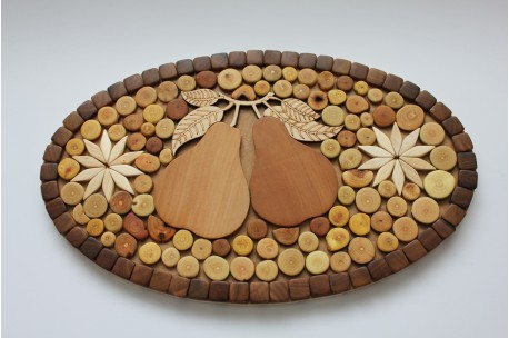 Trivet with pears 18,5 x 30,5 cm